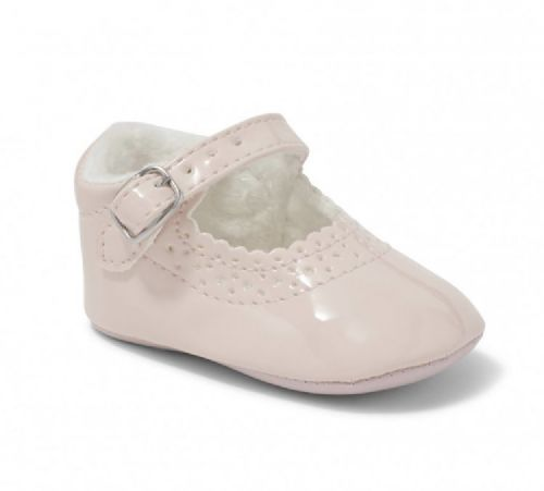 Pink Soft Sole Pram Shoe - Lucy